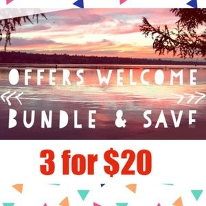 🎈3 for $20🎉 JUST ADD ITEMS TO BUNDLE!!!